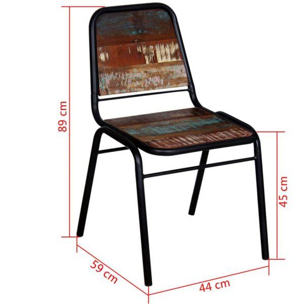 Fabelhafte Mainz Esszimmerstühle 4 Stk. Recyceltes Massivholz