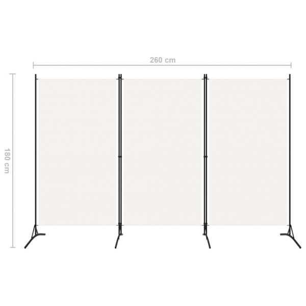 Moderner Casal Palocco 3-tlg. Raumteiler Weiß 260x180 cm