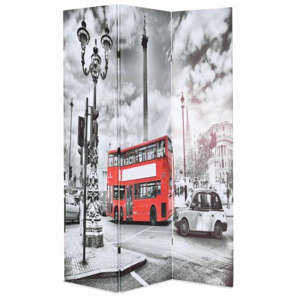 Wundervolle Vicenza Raumteiler klappbar 120 x 170 cm London Bus Schwarz-Weiß