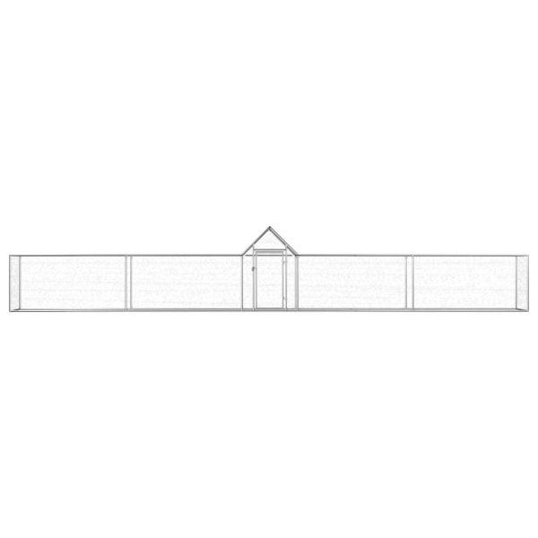 Qualitativer Hühnerstall Hühnervoliere 9 x1x1,5 m Fritz