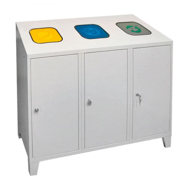 ADB Mülltrenner / Abfallsammler 1220x1200x450 mm 3x ƒ¡ 120 l