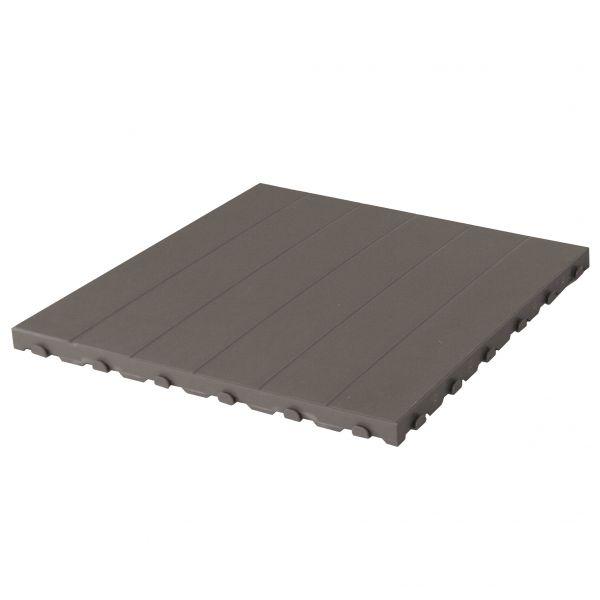 Kunststofffliesen für Außen und Garten 60 x 60 cm Full Grey. Packung mit 4 Stück entsprechend 1,5 m2