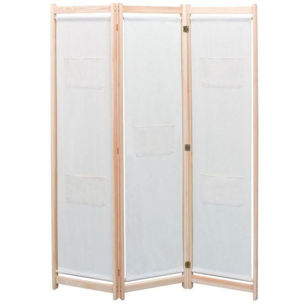 Charmante Verbania 3-teiliger Raumteiler Creme 120 x 170 x 4 cm Stoff
