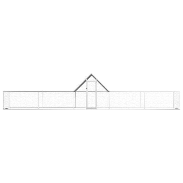Qualitativer Hühnerstall Hühnervoliere Hühnerhaus 10 x 2m Hermann