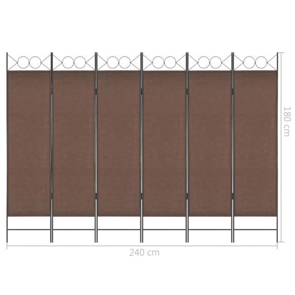 Prachtvolle Manfredonia 6-tlg. Raumteiler Braun 240 x 180 cm
