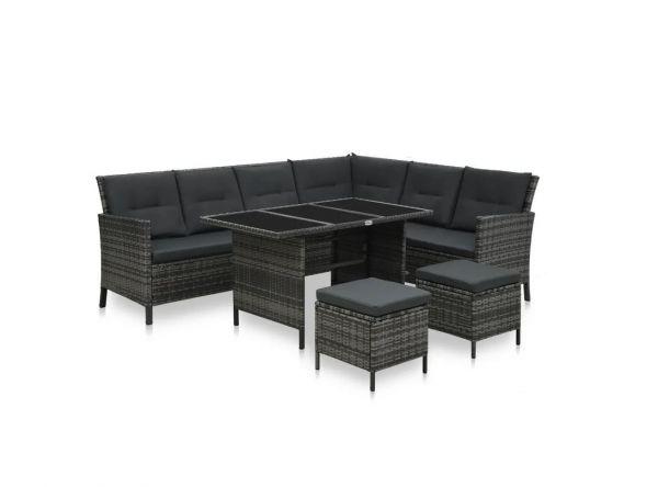 Essgruppe Lounge Sitzgruppe ' Deluxe ' Gartenmöbel