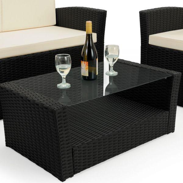 Rattan Sitzgruppe Lounge Set '' Nero ''