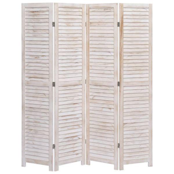 4-tlg. Raumteiler 140 x 165 cm Holz