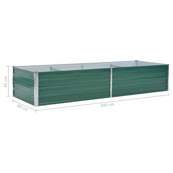 Zauberhafte Garten-Hochbeet Verzinkter Stahl 240x80x45 cm Grün Kelso