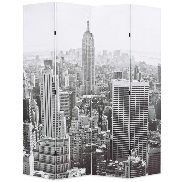 Fabelhafte Reggio Calabria Raumteiler klappbar 160 x 170 cm New York bei Tag Schwarz-Weiß