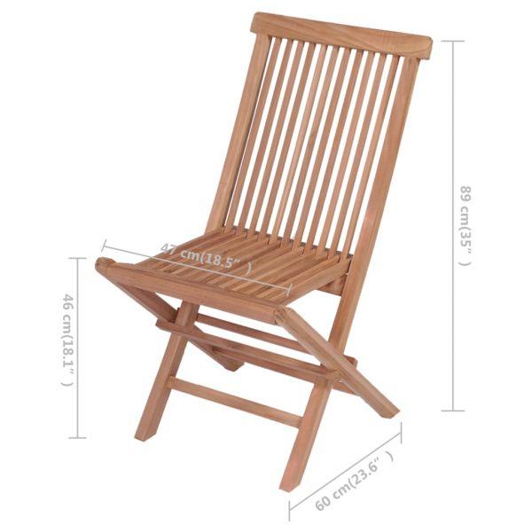 Hochwertige Klappbare Gartenstühle 4 Stk. Massivholz Teak Dobrovice