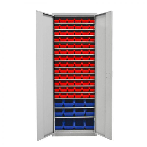ADB Werkstattschrank mit 90 Stapelboxen