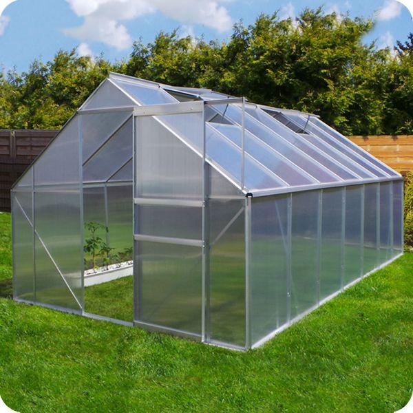 Hochwertiges Gewächshaus 5,5 m Garten Treibhaus Tomatenhaus 6mm testsieger beste neu wind sicher stabil