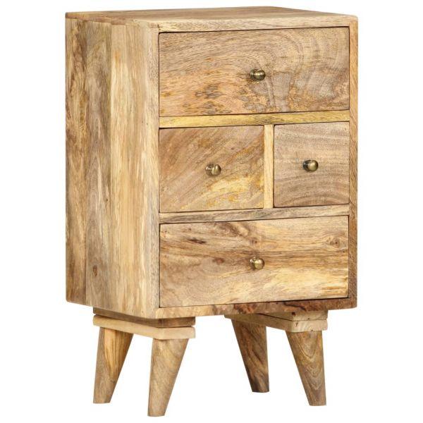 bildschöne Nachttisch 36 x 30 x 60 cm Massivholz Mango Sogndal