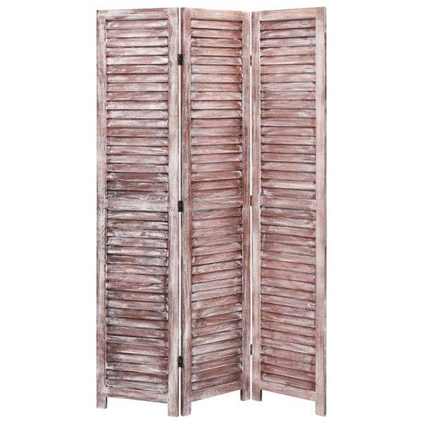 Ausgezeichnete Chioggia 3-tlg. Raumteiler Braun 105 x 165 cm Holz
