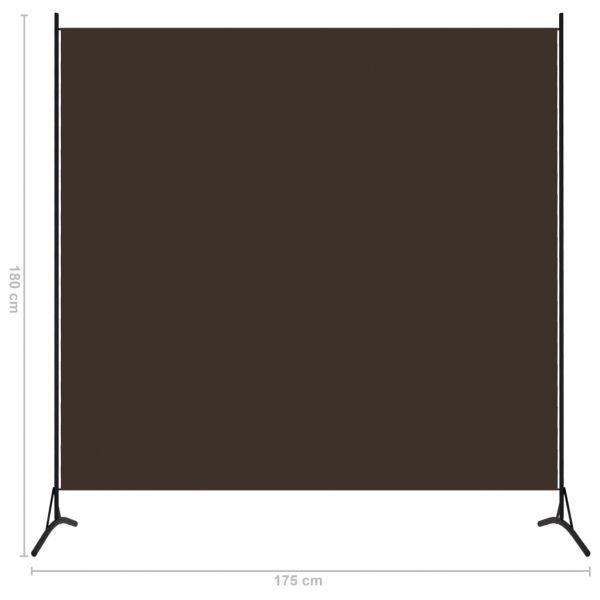 Ausgezeichnete Chieri 1-tlg. Raumteiler Braun 175x180 cm