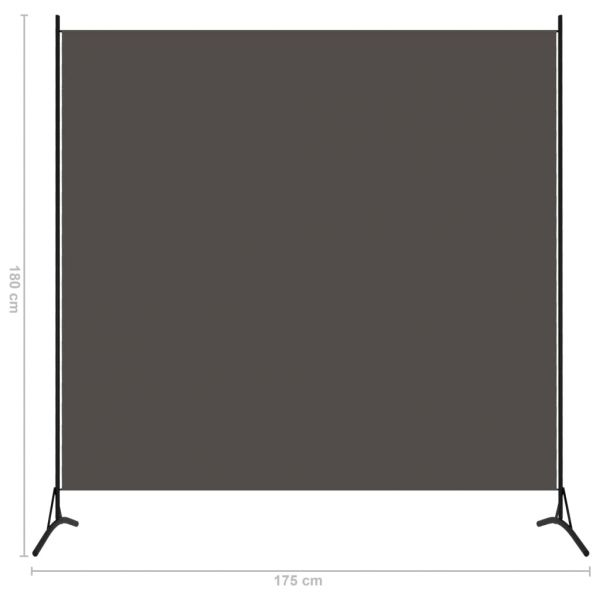 Fabelhafte Favara 1-tlg. Raumteiler Anthrazit 175x180 cm