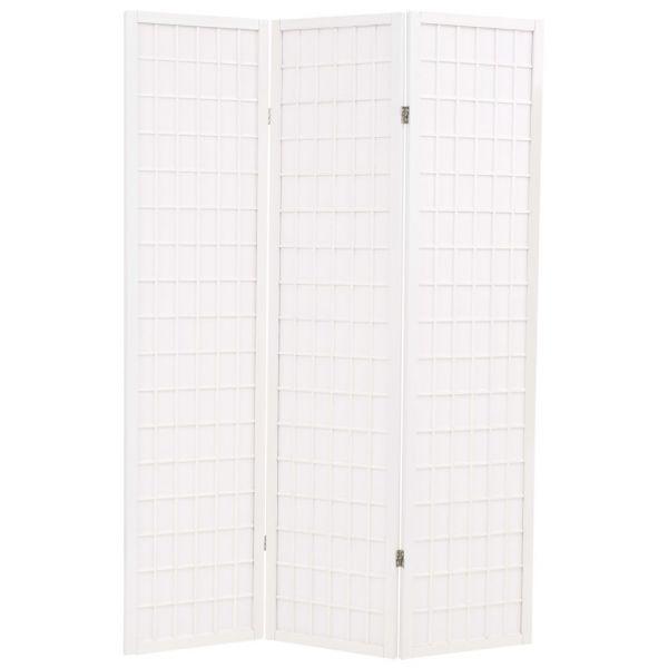 Moderner Sesto San Giovanni 3-tlg. Raumteiler Japanischer Stil Klappbar 120 x 170 cm Weiß