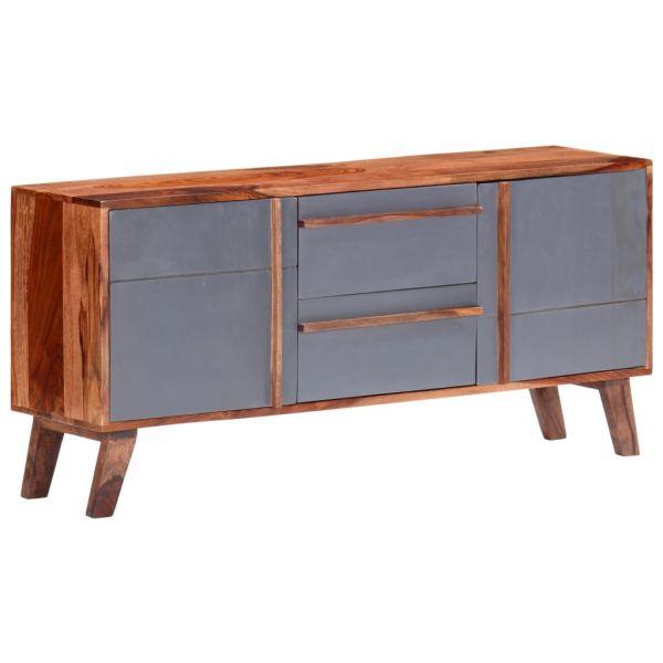 fabelhafte Sideboard Grau 120x30x55 cm Massivholz Sale