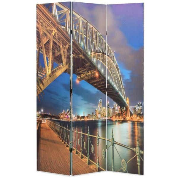 Moderner Reggio nell'Emilia Raumteiler klappbar 120 x 170 cm Sydney Harbour Bridge
