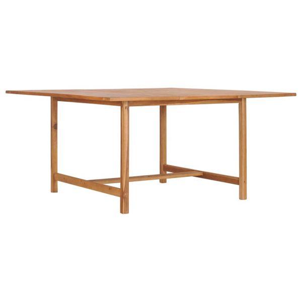 Spitze Gartentisch 150 x 150 x 76 cm Massivholz Teak Liběchov