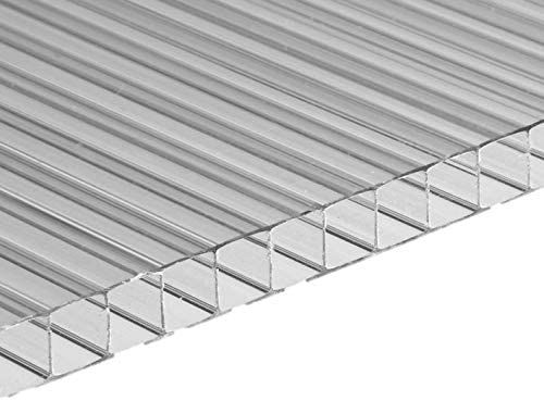 6 mm dicke Alveolar-Polycarbonatplatte 100 x 100 cm Transparent