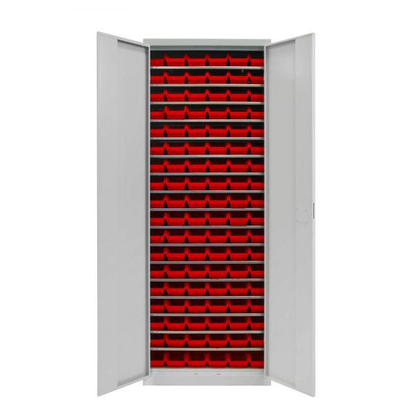 ADB Werkzeugschrank mit 108 Sichtlagerkästen