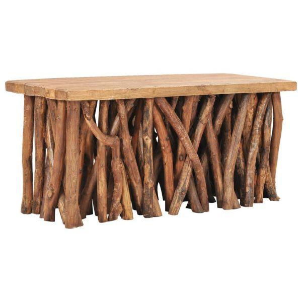 ausgezeichnete Droichead Nua Couchtisch 100x40x47,5 cm Recyceltes Massivholz und Teak