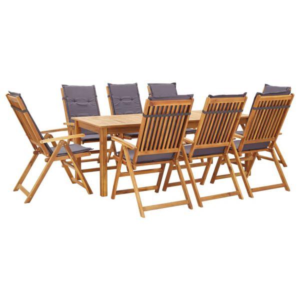 Garten-Essgruppe mit Auflagen Massivholz Sitzgruppe Gartenmöbel