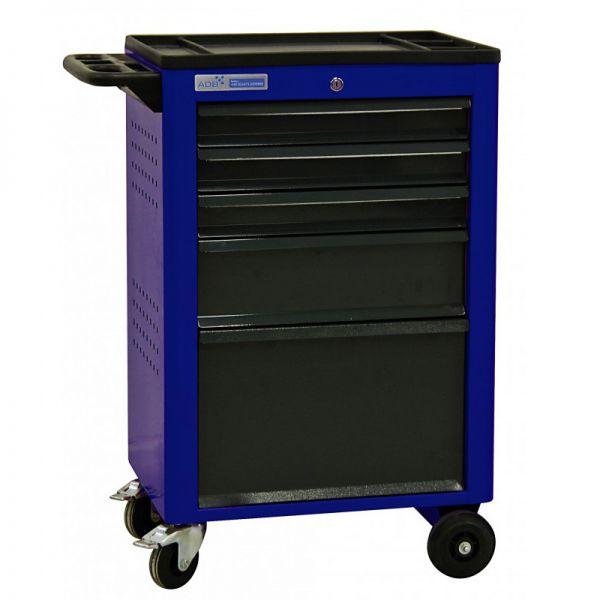 ADB Werkstattwagen Basic mit 5 Schubladen blau