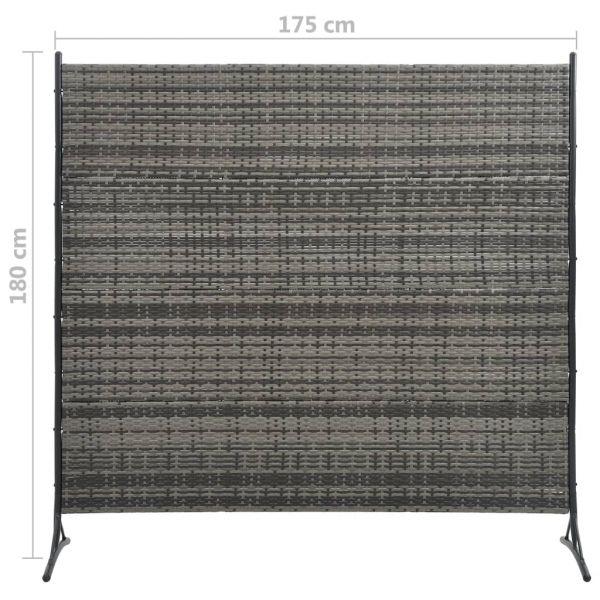 Schöne Marigliano Raumteiler Poly Rattan Anthrazit 175 x 180 cm