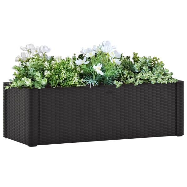 Moderne Garten-Hochbeet Selbstbewässerungssystem Anthrazit 100x43x33 cm Inverloch