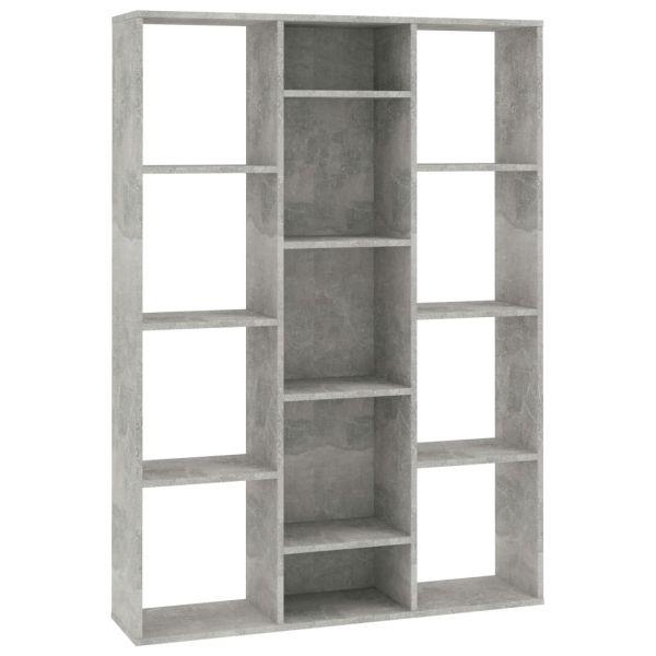 Ausgezeichnete Castelvetrano Raumteiler/Bücherregal Betongrau 100 x 24 x 140 cm Spanplatte