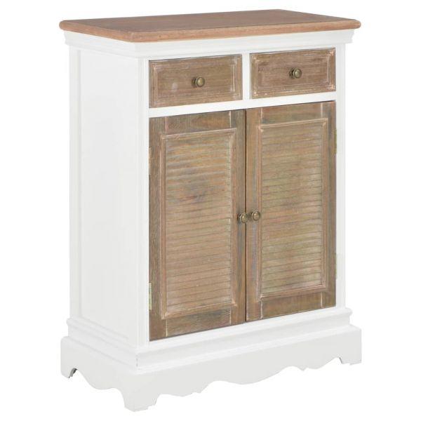 Schöne Sideboard Weiß 60 x 30 x 80 cm Massivholz Mango Littlehampton