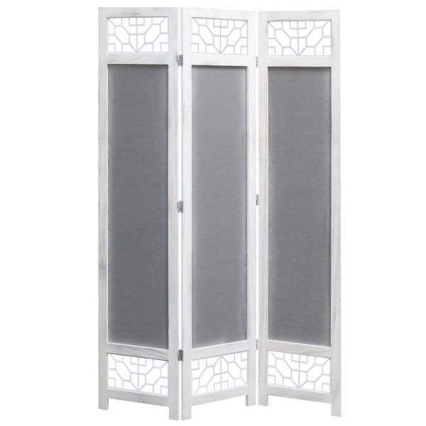 Traumhafte Cuneo 3-teiliger Raumteiler Grau 105 x 165 cm Stoff