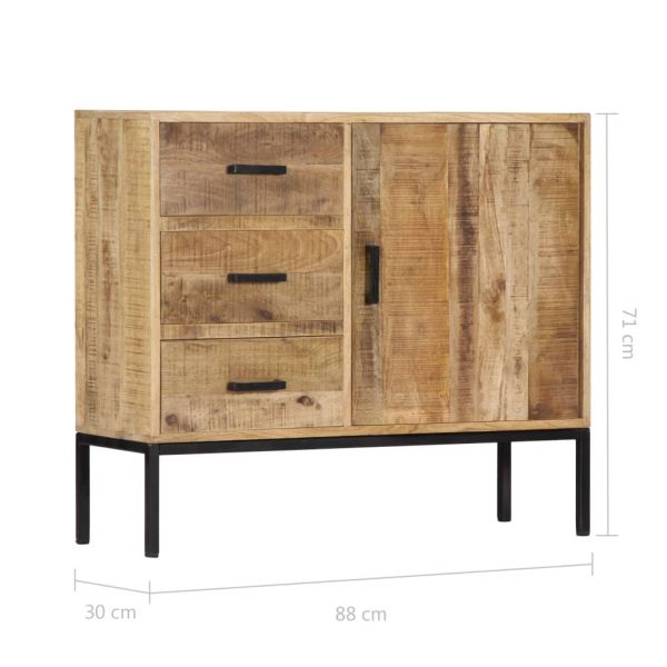 Schöne Royal Leamington Spa Sideboard 88 x 30 x 71 cm Massivholz Mango