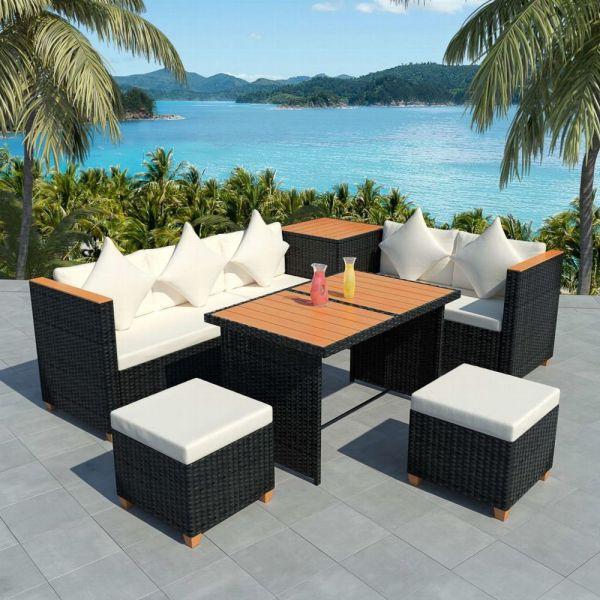 Lounge Gartenmöbel Sitzgruppe 7-tlg.