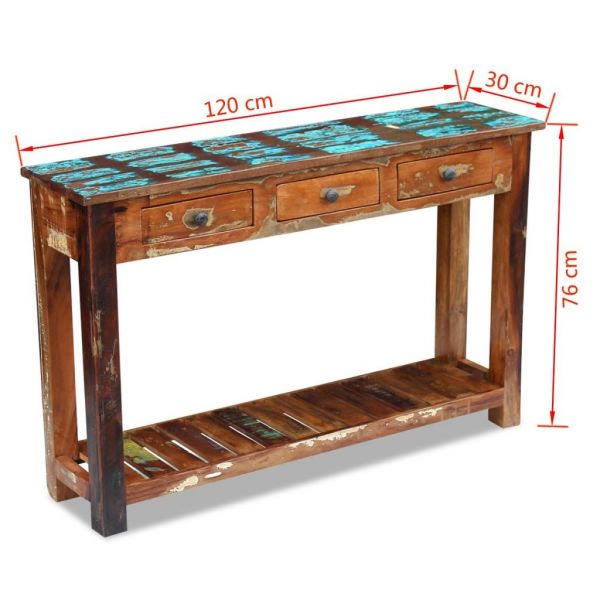 wundervolle Halifax Konsolentisch Recyceltes Massivholz 120x30x76 cm