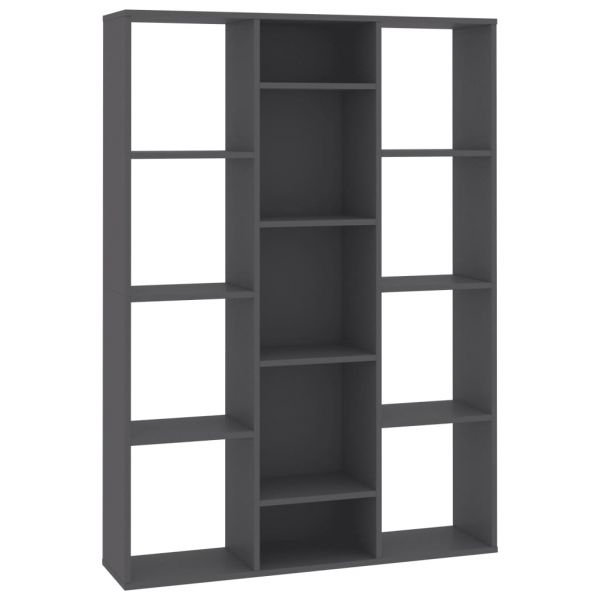 Traumhafte San Donato Milanese Raumteiler/Bücherregal Grau 100 x 24 x 140 cm Spanplatte