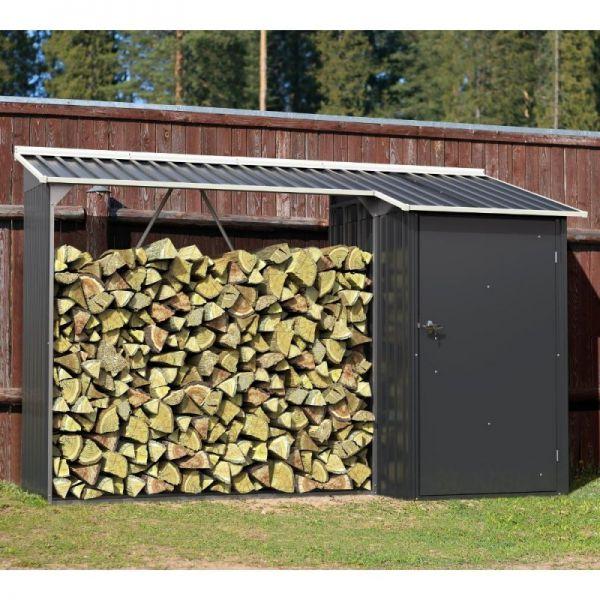Duramax Kaminholzregal mit Aufbewahrungsschrank Gerätehaus Holz