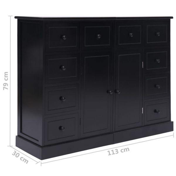 fabelhafte Chesterfield Sideboard mit 10 Schubladen Schwarz 113 x 30 x 79 cm Holz