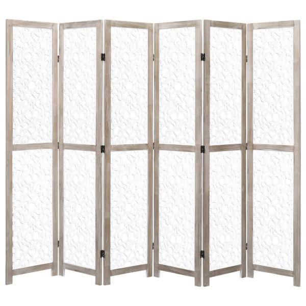 Ausgezeichnete Nocera Inferiore 6-teiliger Raumteiler Weiß 210 x 165 cm Massivholz