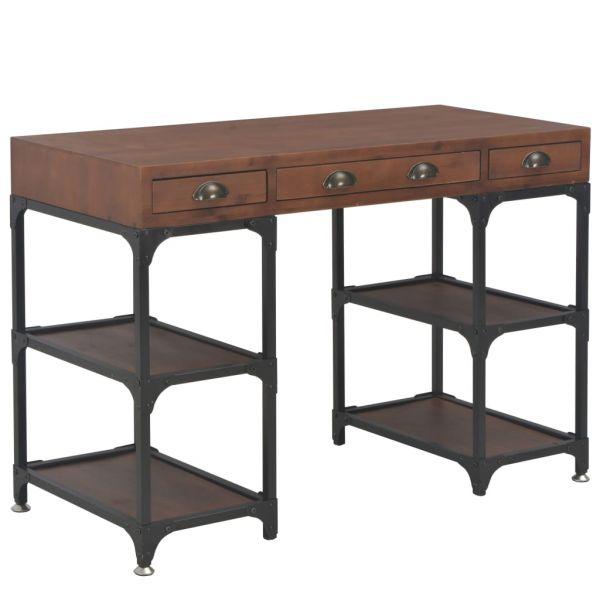 Schöne Palma de Mallorca Schöne Lisbon Schreibtisch mit 3 Schubladen 110x50x78 cm Massivholz Tanne