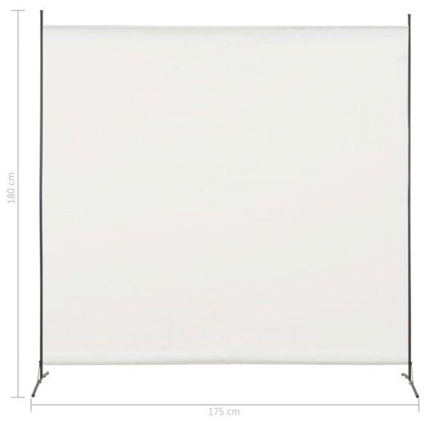 Wundervolle Civitavecchia 1-tlg. Raumteiler Weiß 175 x 180 cm