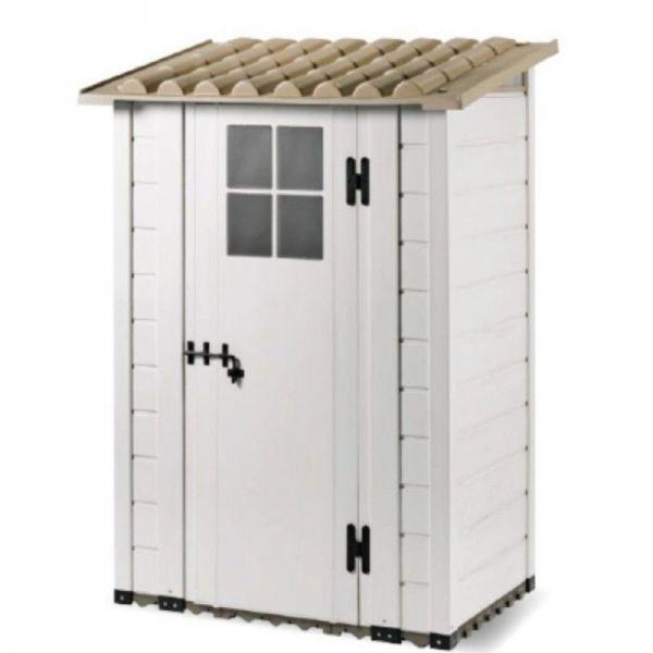 Tuscany Evo 100 Resin Gartenhaus Bodenbelag inklusive Geräteschuppen PVC Gartenhaus