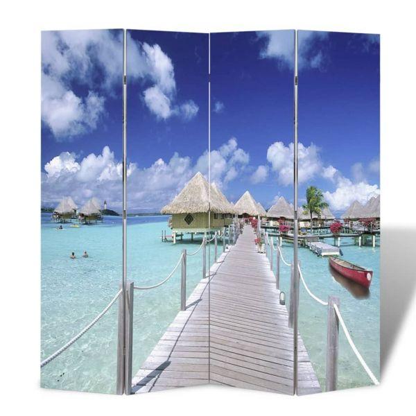 Schöne Naples Raumteiler klappbar 160 x 170 cm Strand