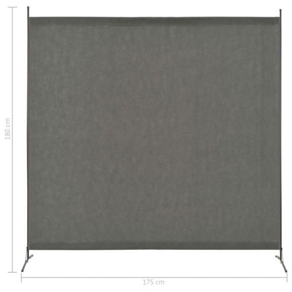 Wunderschöne Battipaglia 1-tlg. Raumteiler Anthrazit 175 x 180 cm