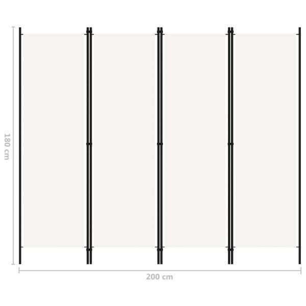 Charmante Sant'Antimo 4-tlg. Raumteiler Weiß 200x180 cm