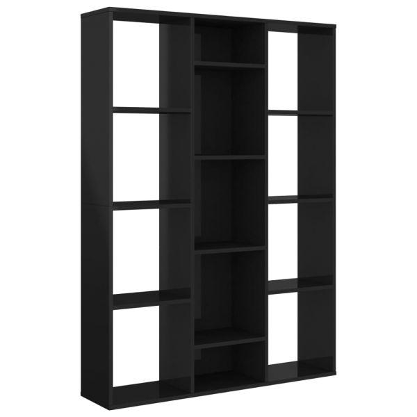 Wundervolle Rapallo Raumteiler/Bücherregal Hochglanz-Schwarz 100 x 24 x 140 cm