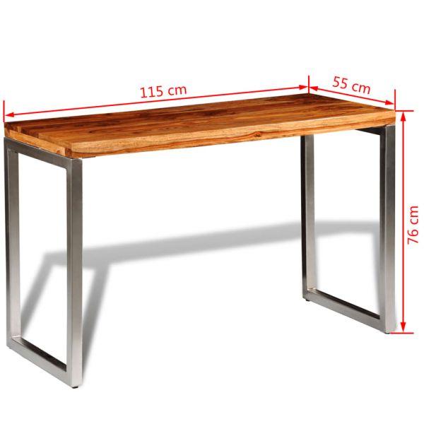 ausgezeichnete Esstisch Schreibtisch Massivholz mit Stahlbeinen Rankweil